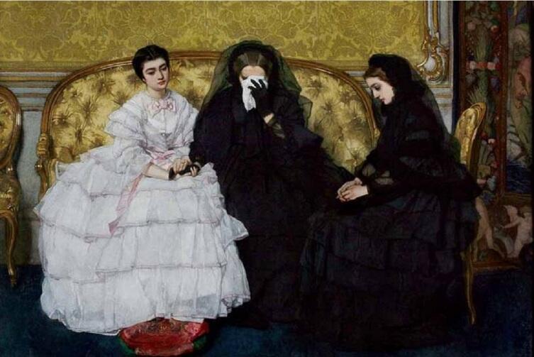Альфред Эмиль Леопольд Стевенс, «Поминовение»,1857 г.