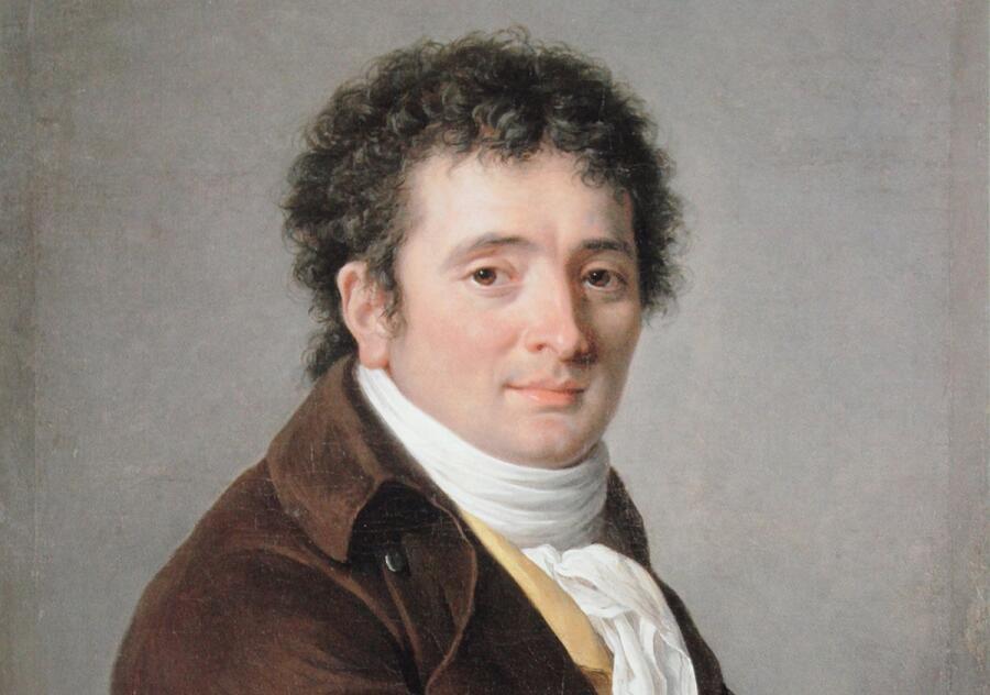 Аделаида Лабиль-Жиар, портрет комедийного актера Турнеля, фрагмент, 1799 г.