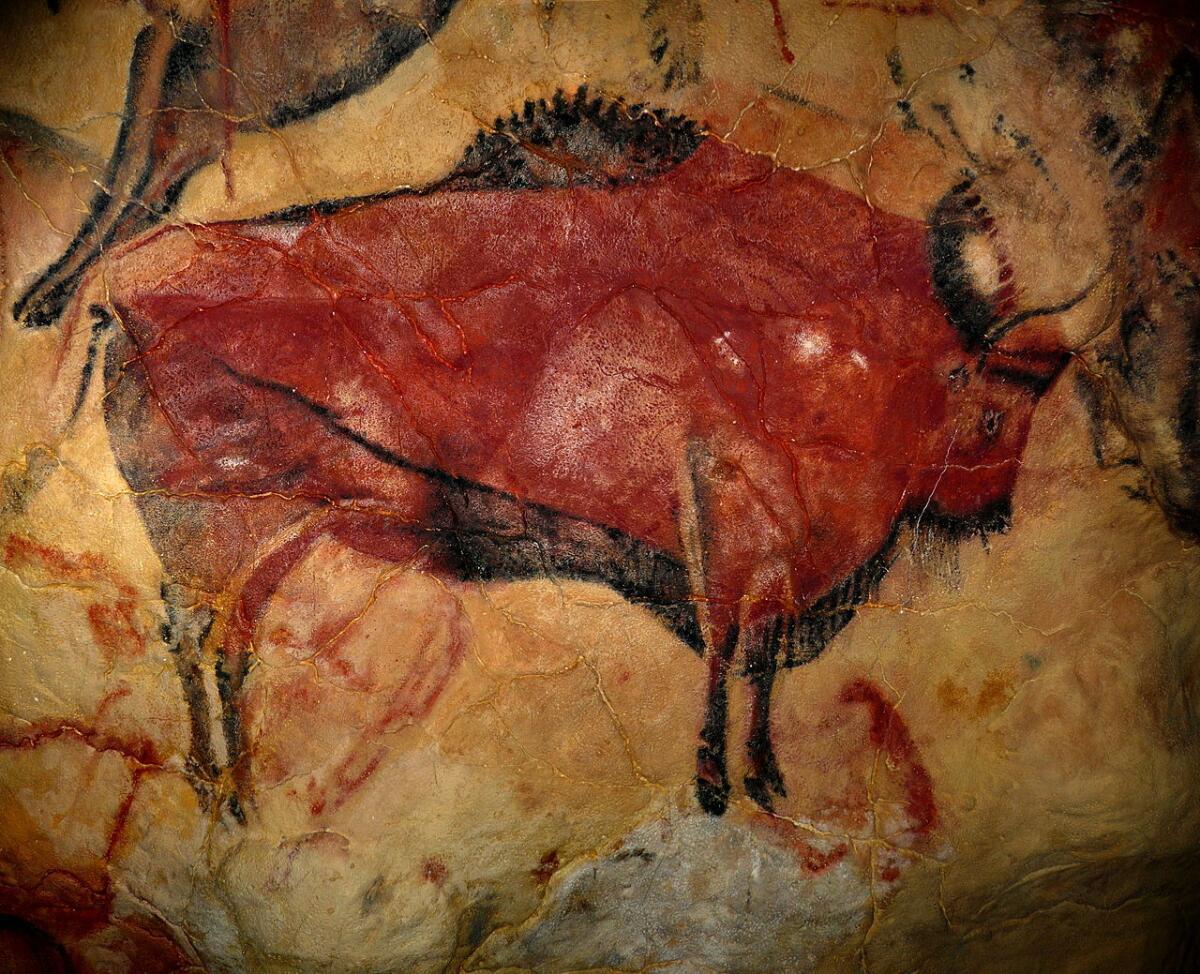 Копия одного из рисунков в музейном комплексе Альтамира