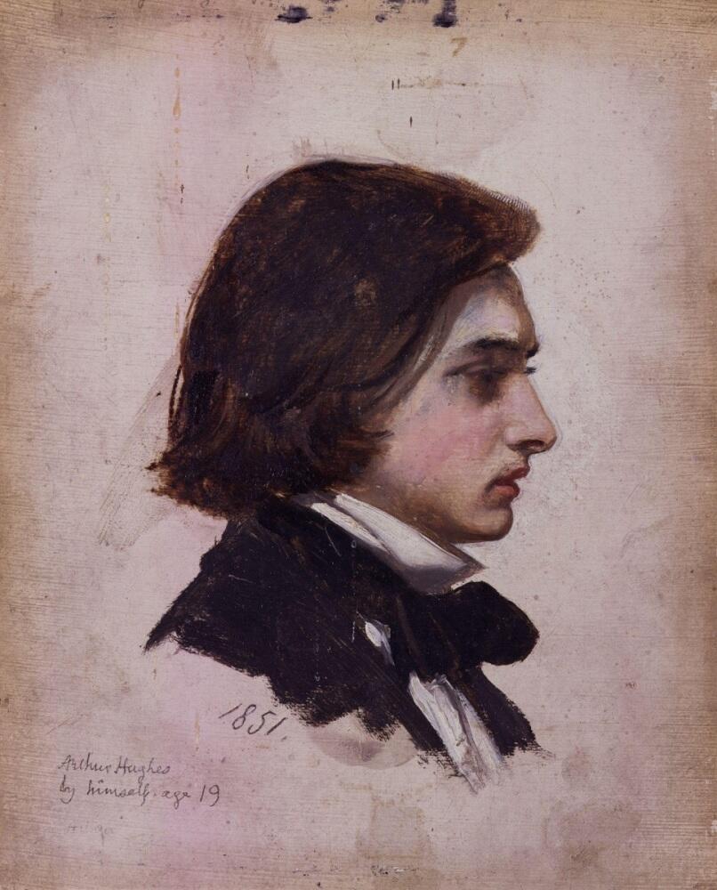 Артур Хьюз, «Автопортрет», 1851 г., 18х15 см, Национальная портретная галерея, Лондон, Англия