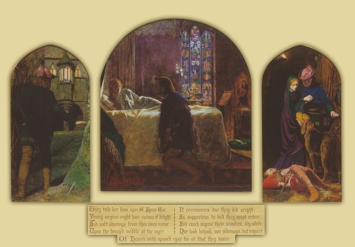 Артур Хьюз, «Вечер св. Агнессы», 1856 г., 71х124 см, галерея Тэйт, Лондон, Англия