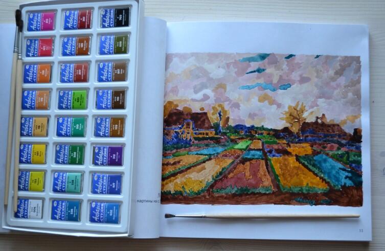 Раскраска «Шедевры Ван Гога»