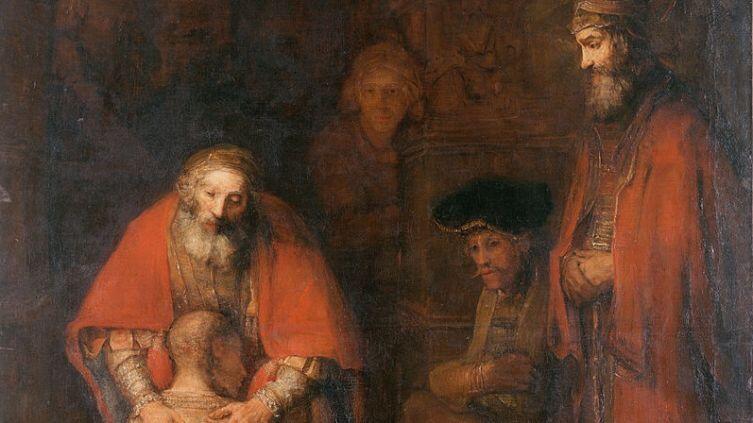 Рембрандт, «Возвращение блудного сына», фрагмент, 1666-1669 гг.