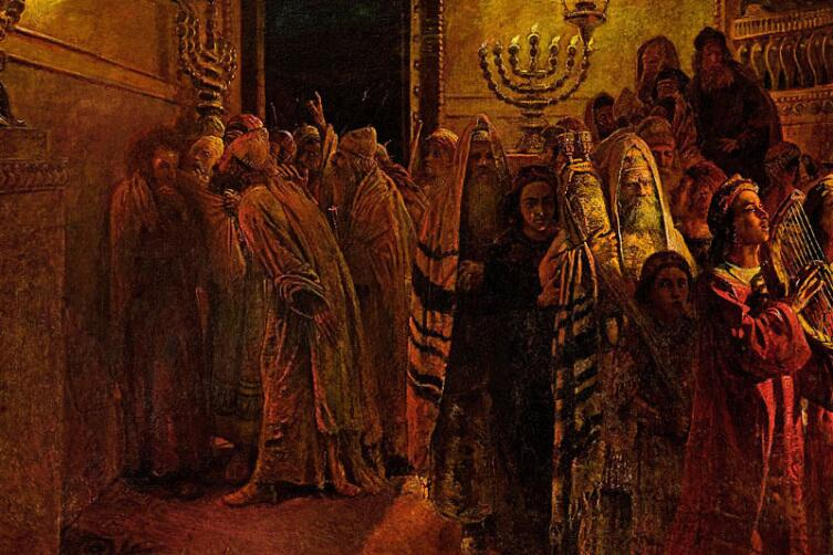 Н. Н. Ге, «Суд Синедриона. «Повинен смерти»», 1892 г.