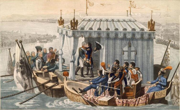 Жан-Батист ДЕБРЕ, «Встреча двух императоров», 1807 г.