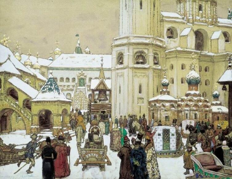 А. М. Васнецов, «Площадь Ивана Великого в Кремле. XVII век», 1903 г.