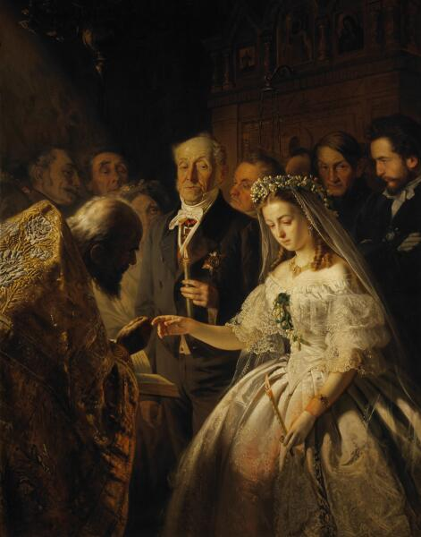 В. В. Пукирев, «Неравный брак», 1862 г.