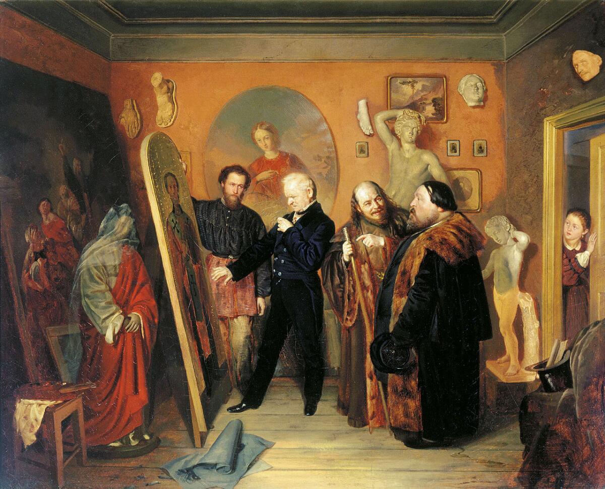 В. В. Пукирев, «В мастерской художника», 1862 г.