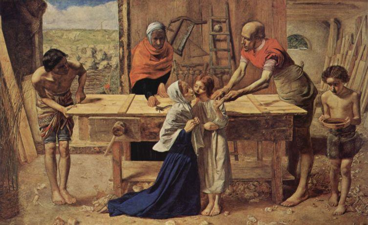 Джон Эверетт Милле, «Христос в родительском доме», 1850 г.