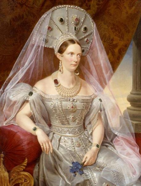 Франц Крюгер, «Императрица Александра Федоровна в кокошнике», ок. 1836 г.