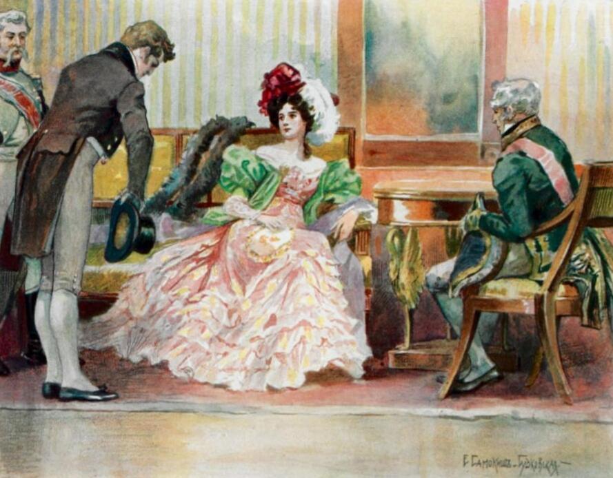 Е.Самокиш-Судковской, илюстрация к изданию «Евгений Онегин», 1908 г.