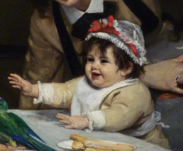 Каролюс-Дюран, «Безудержное веселье», фрагмент, 1870 г.