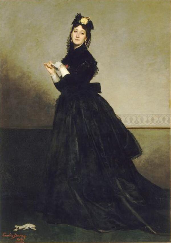 Каролюс-Дюран, «Мадам Каролюс-Дюран (Паулина Кроизет), жена художника», 1869 г.