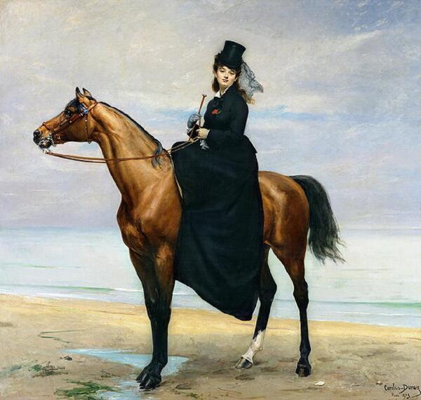 Каролюс-Дюран, Каролюс-Дюран, «Конный портрет мадмуазель Кроизет», 1873 г.