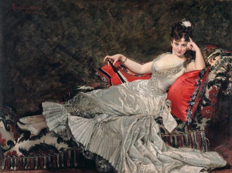 Каролюс-Дюран, Каролюс-Дюран, «Портрет мадемуазель де Лэнси», 1876 г.