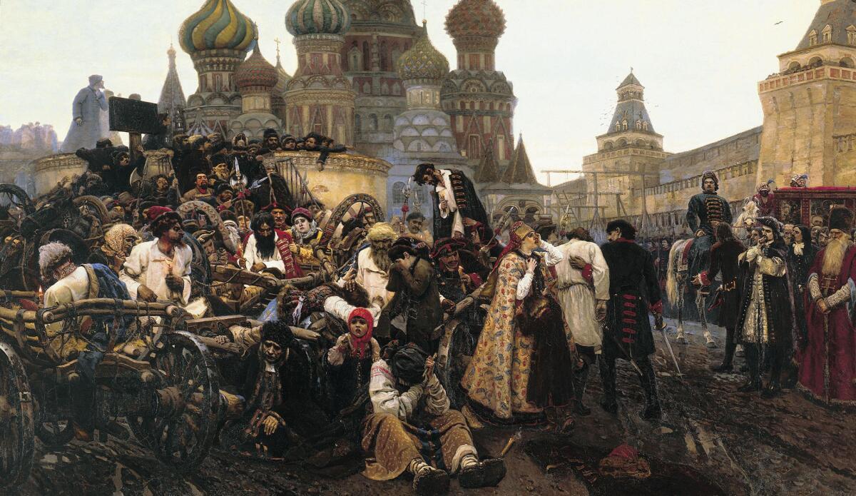В. И. Суриков, «Утро стрелецкой казни», 1881 г.