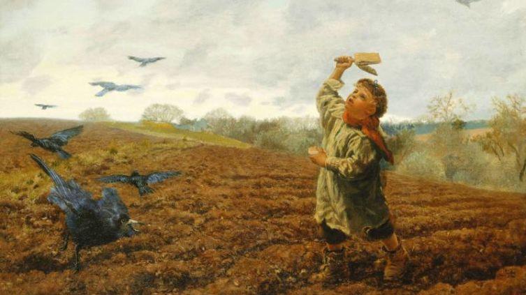 Артур Хьюз, «Гроза ворон», 1884 г.