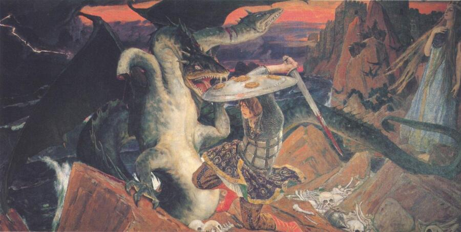 В. М. Васнецов, «Бой Ивана Царевича со Змеем»