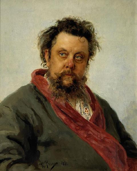 И. Е. Репин, «Портрет композитора М. П. Мусоргского», 1881 г.