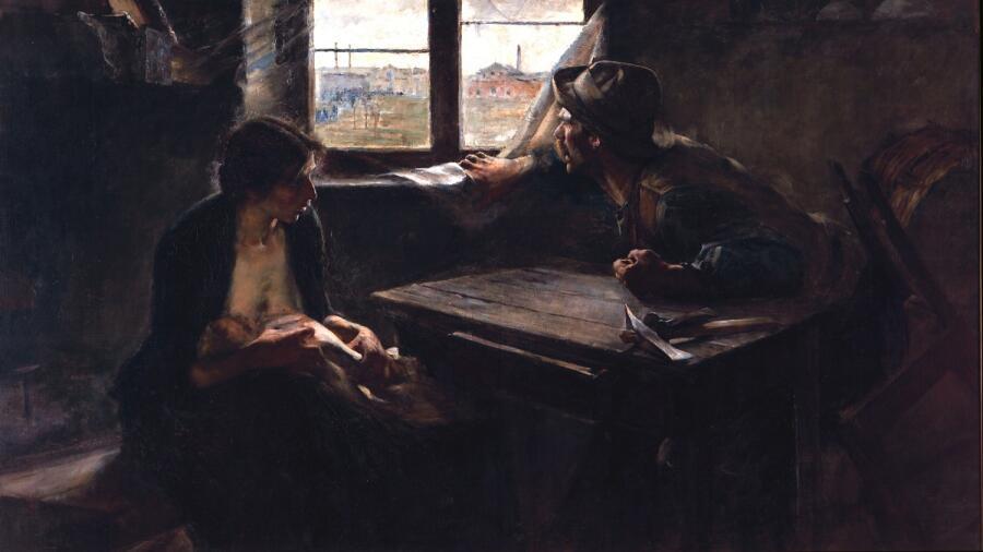 Эрнесто де ла Каркова, «Без хлеба, без работы», 1893 г.