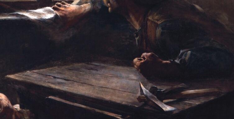 "Эрнесто де ла Каркова, «Без хлеба, без работы», фрагмент ""Руки и инструмент"""