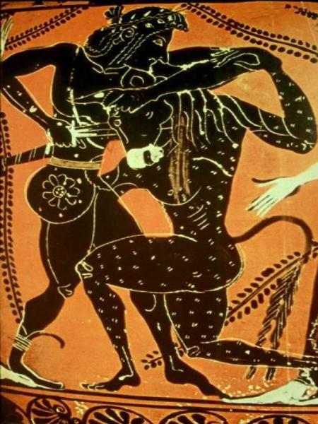 Бой Тесея с Минотавром