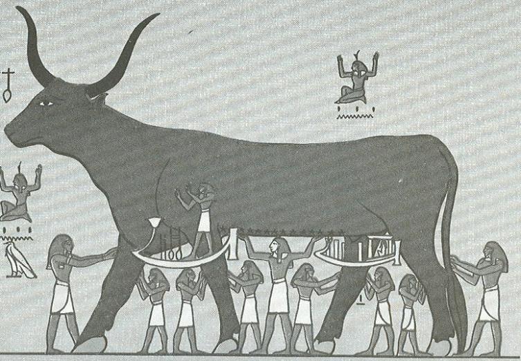 Богиня неба Нут в образе коровы