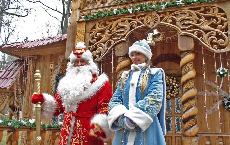 Дед Мороз со Снегурочкой, Беловежская пуща