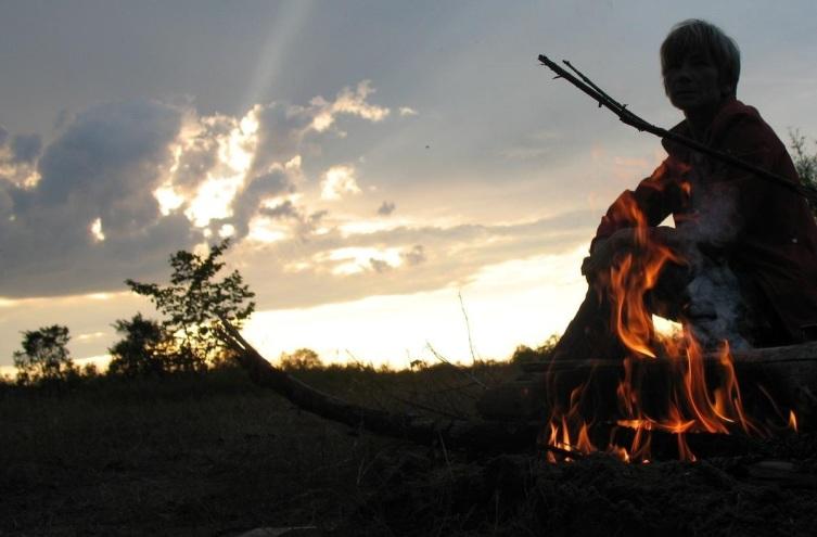 Огонь на Рыбинском водохранилище