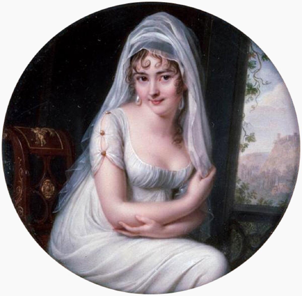 Жан Батист Жак Августин, «Портрет мадам Рекамье», 1801 г.