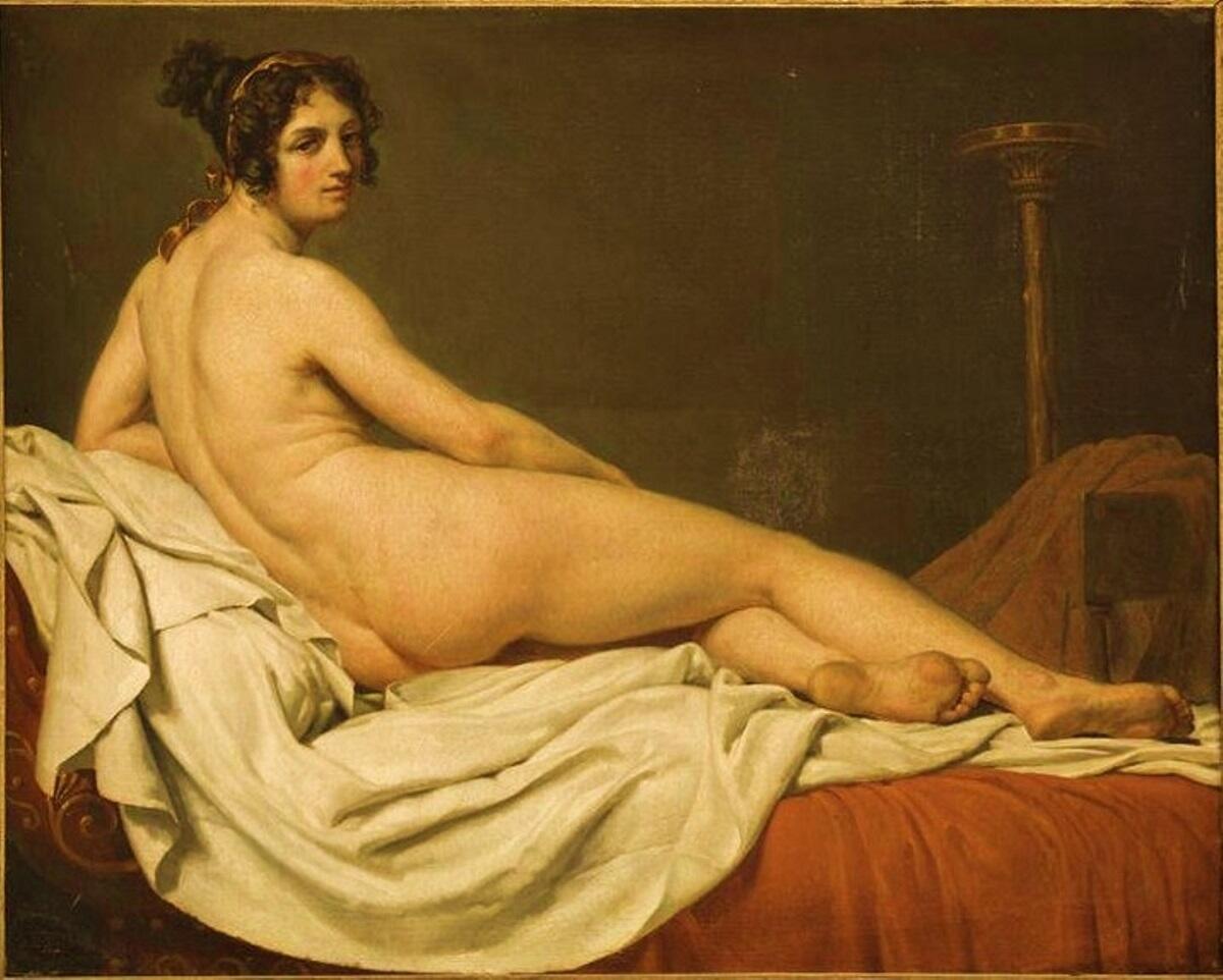 Жак Луи Давид, «Портрет Жюльет Рекамье», 1810 г.