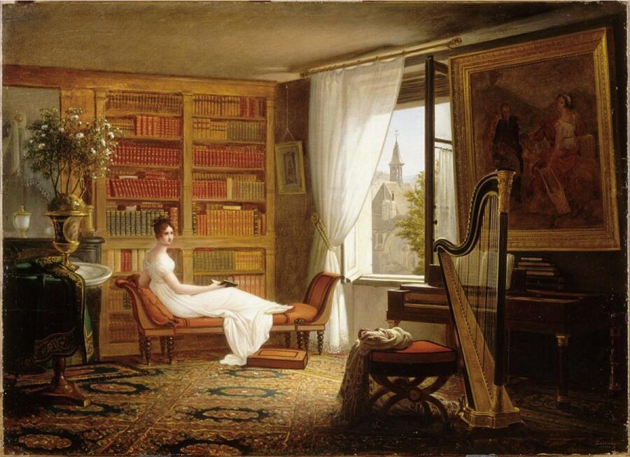 Франсуа-Луи Дежин, «Комната мадам Рекамье в монастыре Аббе-о-Буа», 1826 г.