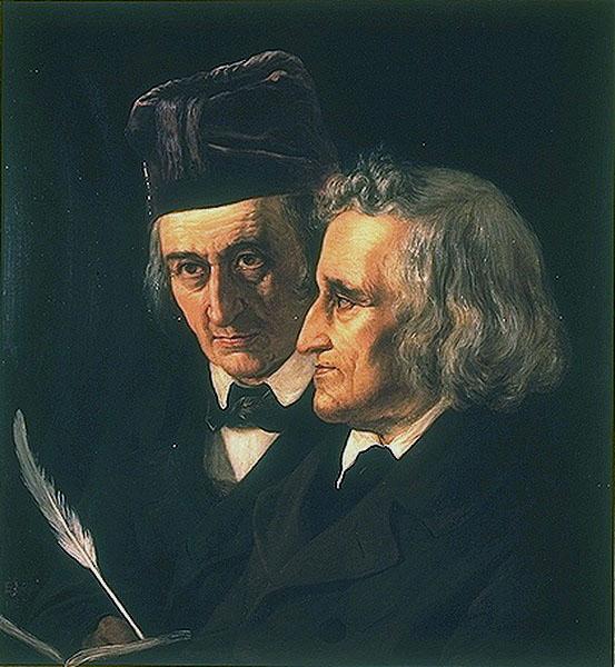 Элизабет Йерихау, «Братья Вильгельм и Якоб Гримм», 1855 г.