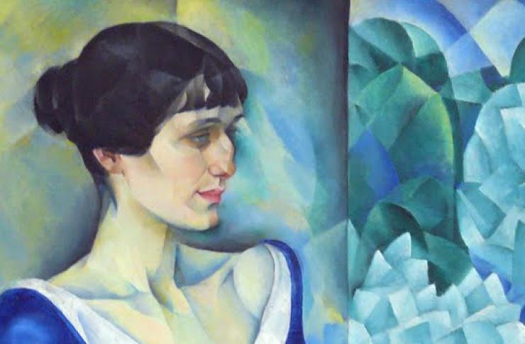 Н. Альтман, «Портрет А. А. Ахматовой», фрагмент, 1914 г.