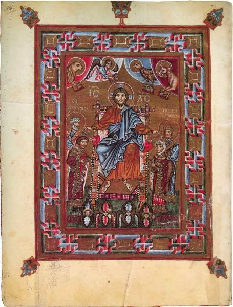 Христос коронует Гертруду и Ярополка. Кодекс Гертруды. Кон. X в.