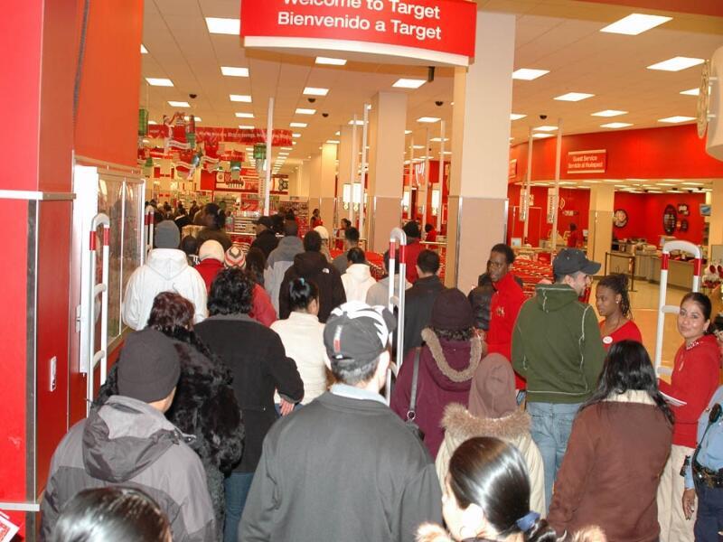 Очередь в магазине Target