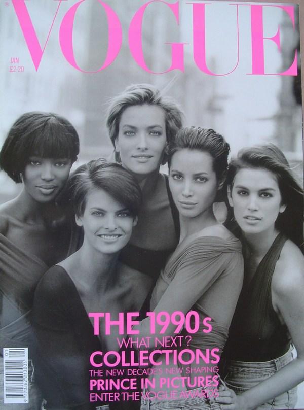 Слева направо: Наоми Кэмпбелл, Линда Евангелиста, Татьяна Папитц, Кристи Тарлингтон, Синди Кроуфорд