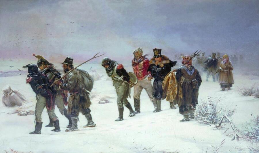 И. М. Прянишников, «В 1812 году», 1874 г.