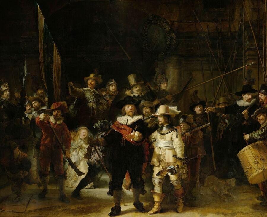 Рембрандт, «Ночной дозор», 1642г.