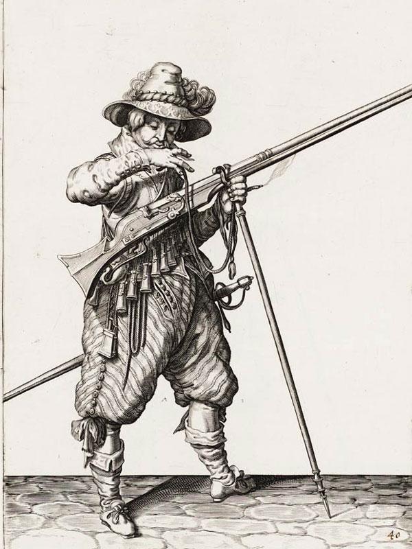 Мушкетёр с мушкетом