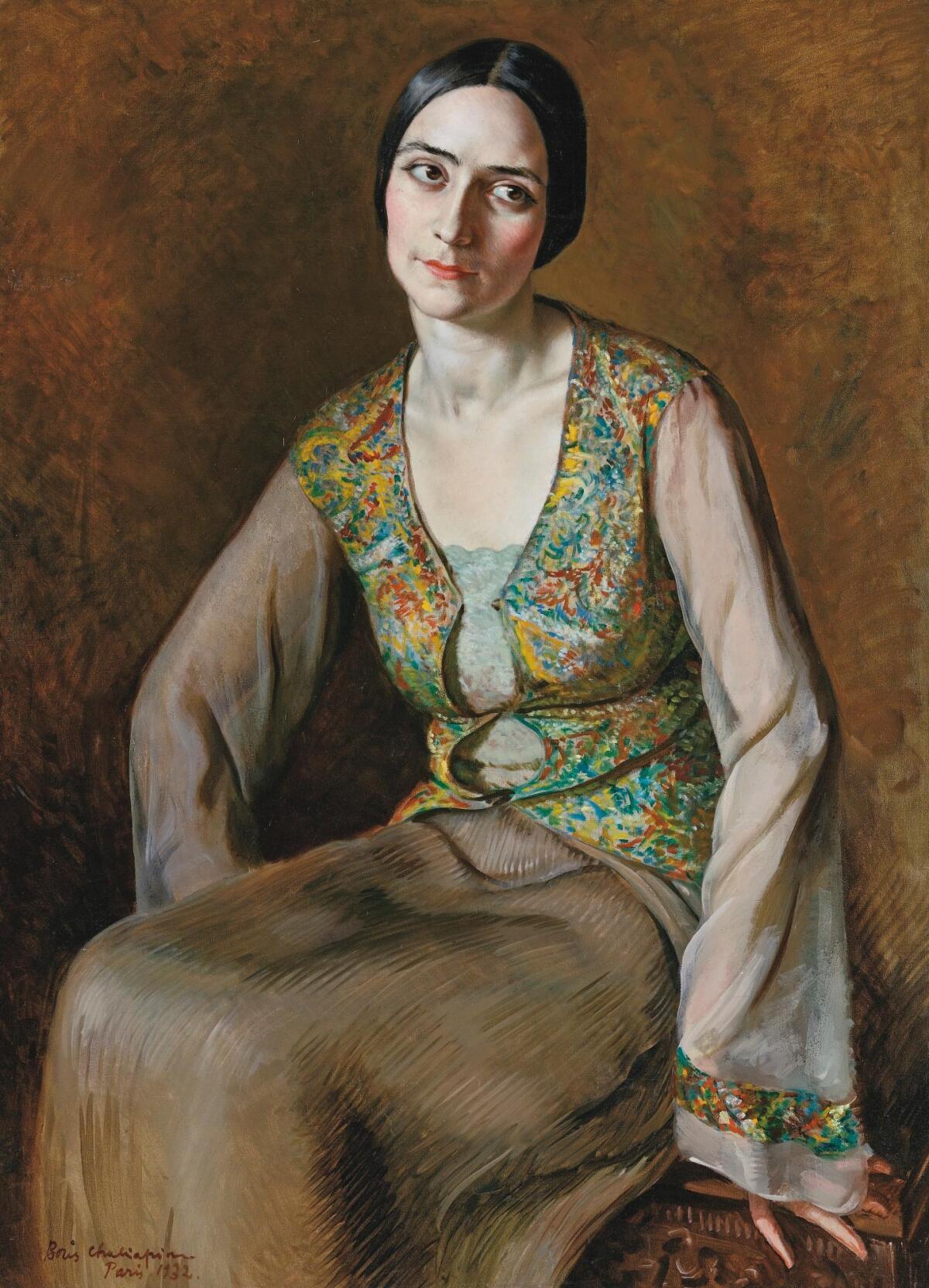 Борис Шаляпин, «Портрет Ольги Спесивцевой», 1932 г.