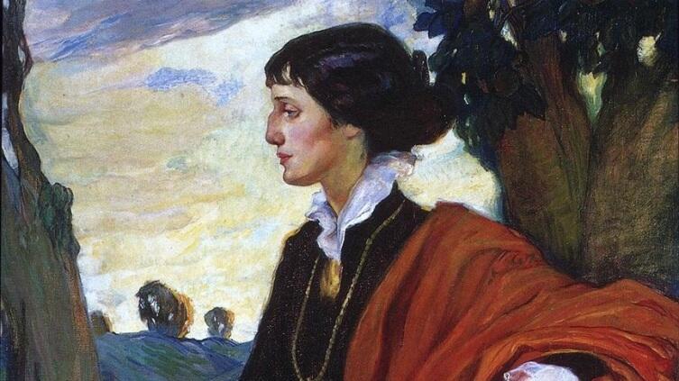 Ольга Кардовская, «Портрет Анны Ахматовой» (фрагмент), 1914г.