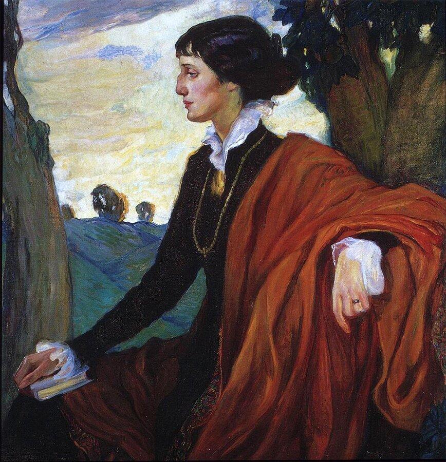Ольга Кардовская, «Портрет Анны Ахматовой», 1914г.