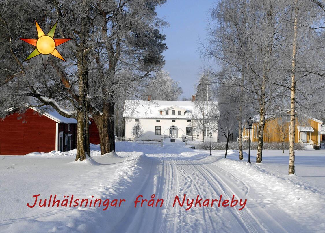 «Рождественские поздравления из Nykarleby!» - открытка с фотографией из усадьбы с домом-музеем писателя