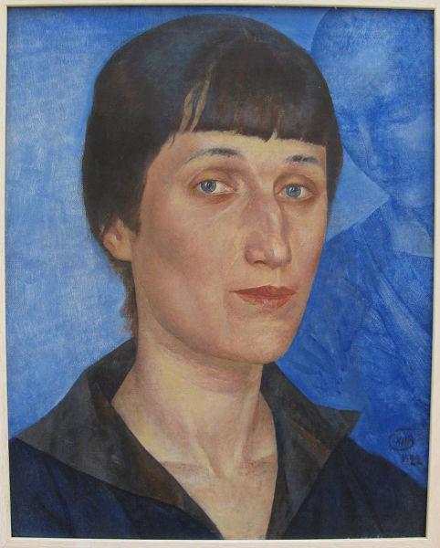 К. Петров-Водкин, «Портрет Анны Ахматовой», 1922 г.