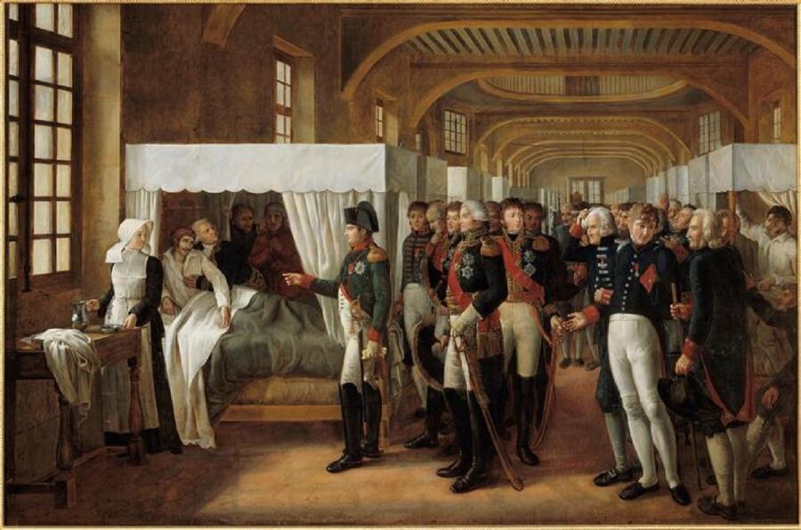 Александр Пауль Жозеф Верон (Верон-Беллекурт), «Визит Наполеона в Дом Инвалидов 11 февраля 1808 года», 1809 г.