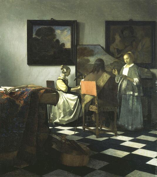 Ян Вермеер, «Концерт», около 1663 г.