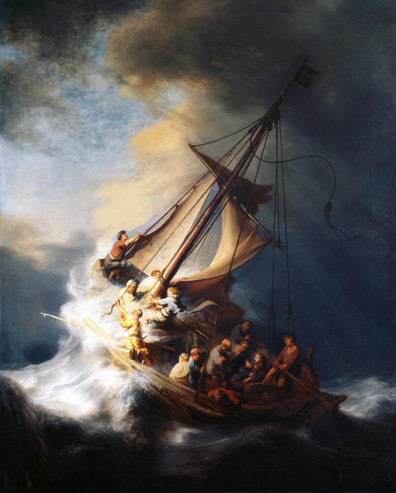 Рембрандт ван Рейн, «Буря на Галилейском море», 1633 г.