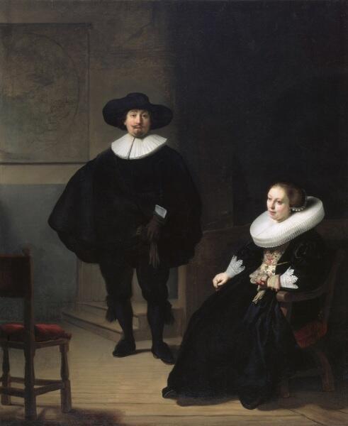 Рембрандт ван Рейн, «Леди и джентльмен в черном», 1633 г.
