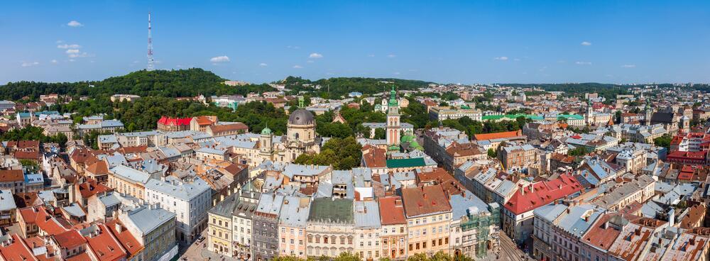 Панорама города Львова